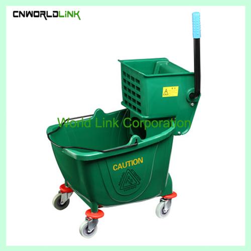 Single mop side press wring trolley WL-028VL (1)