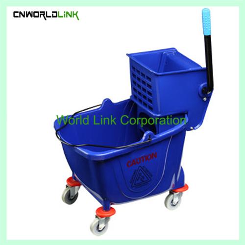 Single mop side press wring trolley WL-028VL (4)
