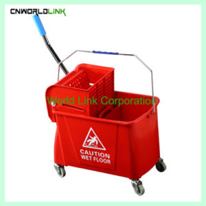 Single mop side press wring trolley WL-027VL (2)