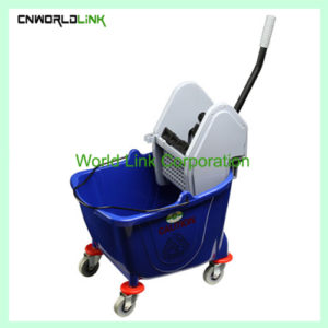 Single mop side press wring trolley WL-028AL (1)