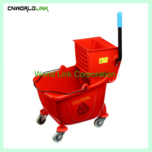 Single mop side press wring trolley WL-028VL (2)