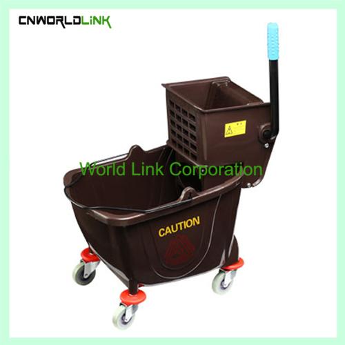 Single mop side press wring trolley WL-028VL (3)