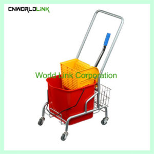 Single mops side press wring trolley WL-029VL